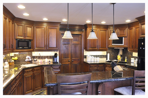 Custom Cherry Hardwood Kitchen Cabinetry