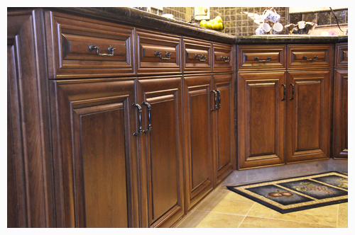 Cutom Cherry Hardwood Kitchen Cabinetry