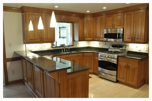 Cherry Hardwood Kitchen Cabinetry