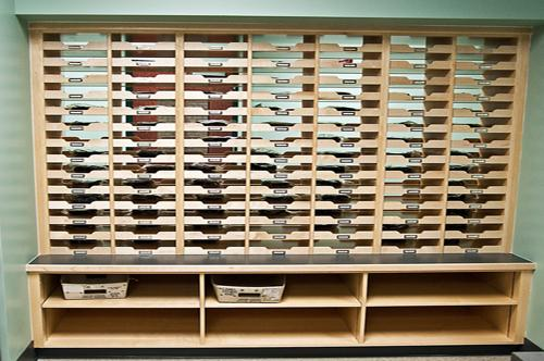 Mail Slots Organizer at Virginia Beach Middle School in Virginia Beach, Virginia