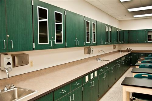 Science Classroom Casework at Virginia Beach Middle School in Virginia Beach, Virginia